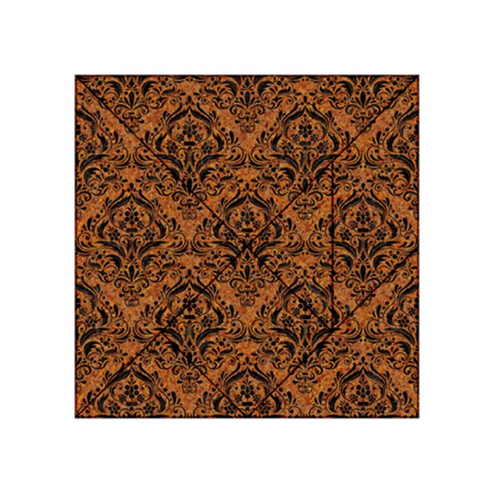 DAMASK1 BLACK MARBLE & RUSTED METAL Acrylic Tangram Puzzle (4  x 4 )