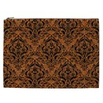 DAMASK1 BLACK MARBLE & RUSTED METAL Cosmetic Bag (XXL)  Front
