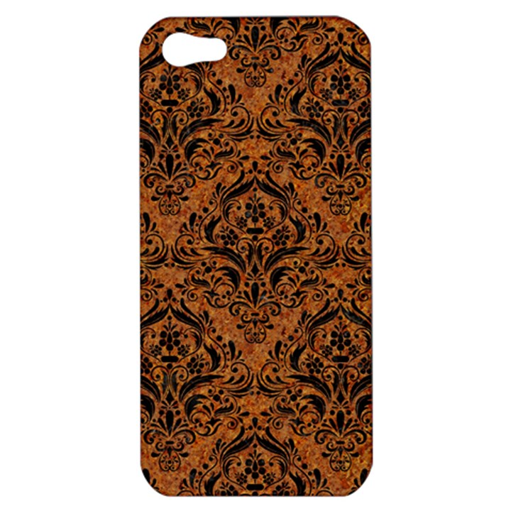 DAMASK1 BLACK MARBLE & RUSTED METAL Apple iPhone 5 Hardshell Case