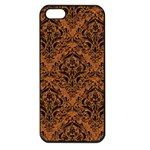 DAMASK1 BLACK MARBLE & RUSTED METAL Apple iPhone 5 Seamless Case (Black) Front
