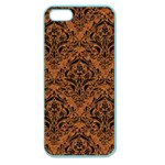 DAMASK1 BLACK MARBLE & RUSTED METAL Apple Seamless iPhone 5 Case (Color) Front