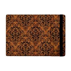 Damask1 Black Marble & Rusted Metal Apple Ipad Mini Flip Case