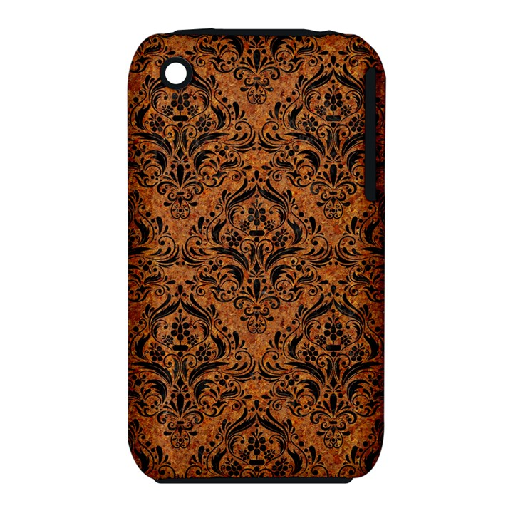DAMASK1 BLACK MARBLE & RUSTED METAL iPhone 3S/3GS