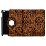 DAMASK1 BLACK MARBLE & RUSTED METAL Apple iPad 2 Flip 360 Case Front