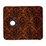 DAMASK1 BLACK MARBLE & RUSTED METAL Galaxy S3 (Flip/Folio) Front
