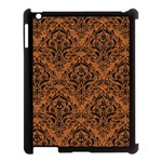 DAMASK1 BLACK MARBLE & RUSTED METAL Apple iPad 3/4 Case (Black) Front