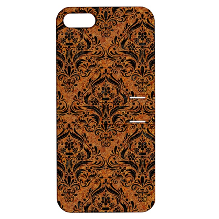 DAMASK1 BLACK MARBLE & RUSTED METAL Apple iPhone 5 Hardshell Case with Stand