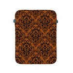 DAMASK1 BLACK MARBLE & RUSTED METAL Apple iPad 2/3/4 Protective Soft Cases Front