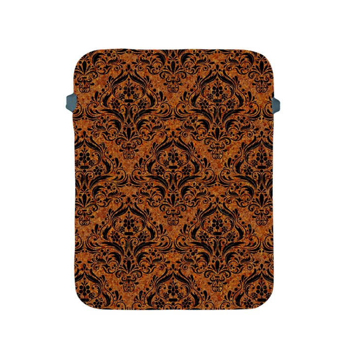 DAMASK1 BLACK MARBLE & RUSTED METAL Apple iPad 2/3/4 Protective Soft Cases
