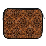 DAMASK1 BLACK MARBLE & RUSTED METAL Apple iPad 2/3/4 Zipper Cases Front