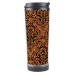 DAMASK1 BLACK MARBLE & RUSTED METAL Travel Tumbler Left