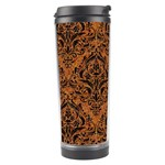 DAMASK1 BLACK MARBLE & RUSTED METAL Travel Tumbler Right
