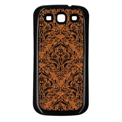 Damask1 Black Marble & Rusted Metal Samsung Galaxy S3 Back Case (black)
