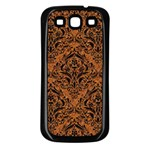 DAMASK1 BLACK MARBLE & RUSTED METAL Samsung Galaxy S3 Back Case (Black) Front