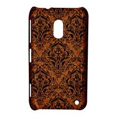 Damask1 Black Marble & Rusted Metal Nokia Lumia 620