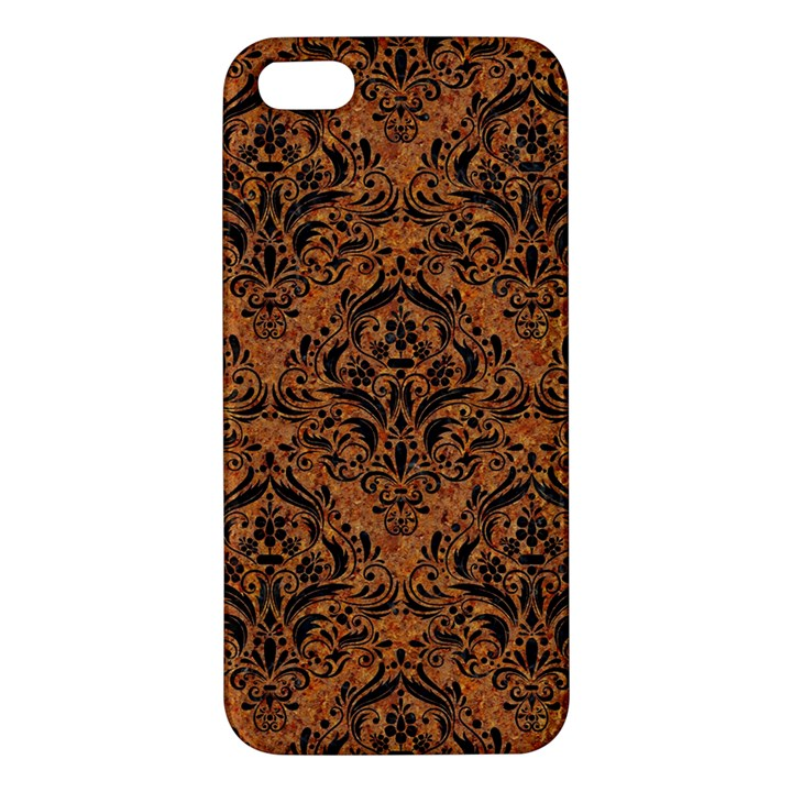 DAMASK1 BLACK MARBLE & RUSTED METAL iPhone 5S/ SE Premium Hardshell Case