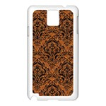 DAMASK1 BLACK MARBLE & RUSTED METAL Samsung Galaxy Note 3 N9005 Case (White) Front