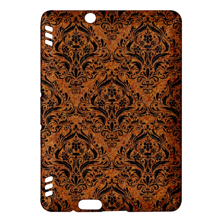DAMASK1 BLACK MARBLE & RUSTED METAL Kindle Fire HDX Hardshell Case
