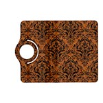 DAMASK1 BLACK MARBLE & RUSTED METAL Kindle Fire HD (2013) Flip 360 Case Front