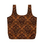 DAMASK1 BLACK MARBLE & RUSTED METAL Full Print Recycle Bags (M)  Back