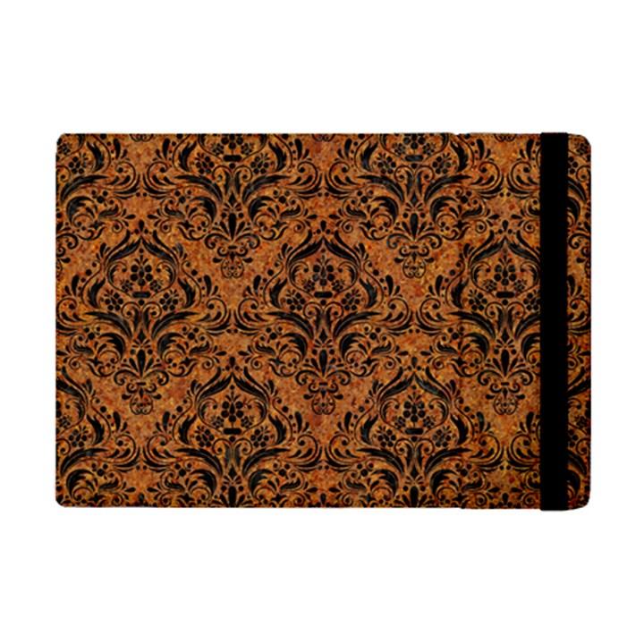 DAMASK1 BLACK MARBLE & RUSTED METAL iPad Mini 2 Flip Cases