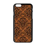 DAMASK1 BLACK MARBLE & RUSTED METAL Apple iPhone 6/6S Black Enamel Case Front