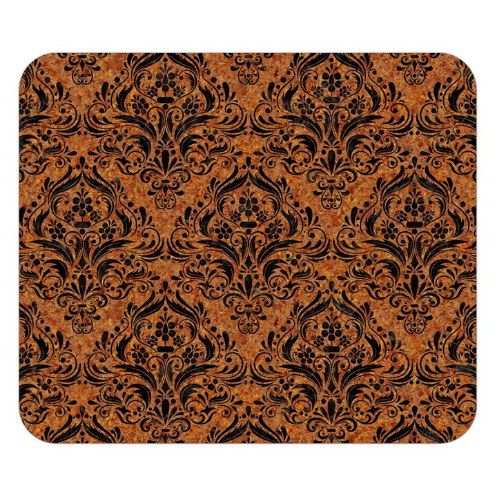 DAMASK1 BLACK MARBLE & RUSTED METAL Double Sided Flano Blanket (Small)