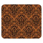 DAMASK1 BLACK MARBLE & RUSTED METAL Double Sided Flano Blanket (Small)  50 x40 Blanket Back