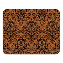 Damask1 Black Marble & Rusted Metal Double Sided Flano Blanket (large)