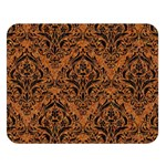 DAMASK1 BLACK MARBLE & RUSTED METAL Double Sided Flano Blanket (Large)  80 x60 Blanket Front