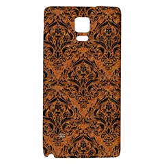 Damask1 Black Marble & Rusted Metal Galaxy Note 4 Back Case