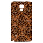 DAMASK1 BLACK MARBLE & RUSTED METAL Galaxy Note 4 Back Case Front