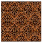 DAMASK1 BLACK MARBLE & RUSTED METAL Large Satin Scarf (Square) Front