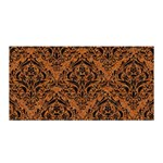 DAMASK1 BLACK MARBLE & RUSTED METAL Satin Wrap Front