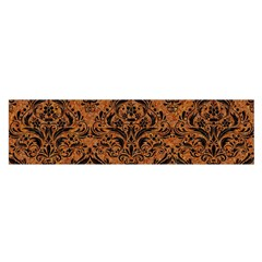 Damask1 Black Marble & Rusted Metal Satin Scarf (oblong)