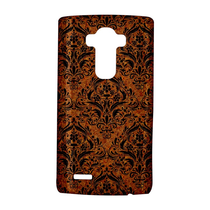 DAMASK1 BLACK MARBLE & RUSTED METAL LG G4 Hardshell Case