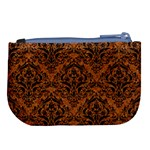 DAMASK1 BLACK MARBLE & RUSTED METAL Large Coin Purse Back