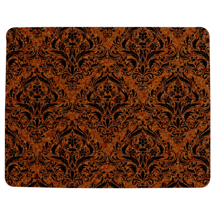 DAMASK1 BLACK MARBLE & RUSTED METAL Jigsaw Puzzle Photo Stand (Rectangular)