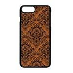 DAMASK1 BLACK MARBLE & RUSTED METAL Apple iPhone 7 Plus Seamless Case (Black) Front