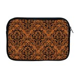 DAMASK1 BLACK MARBLE & RUSTED METAL Apple MacBook Pro 17  Zipper Case Front
