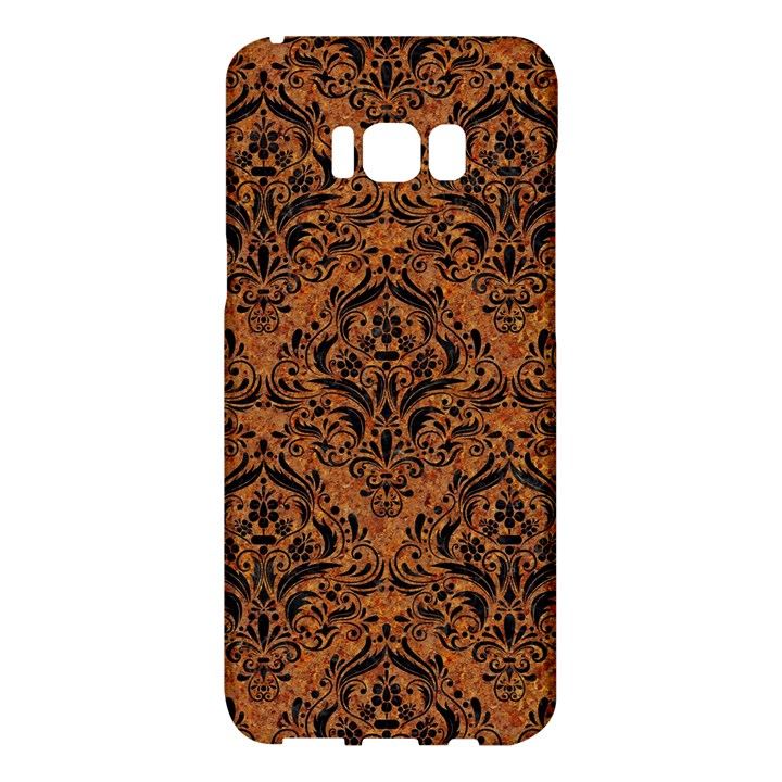 DAMASK1 BLACK MARBLE & RUSTED METAL Samsung Galaxy S8 Plus Hardshell Case