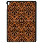 DAMASK1 BLACK MARBLE & RUSTED METAL Apple iPad Pro 9.7   Black Seamless Case Front