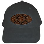 DAMASK1 BLACK MARBLE & RUSTED METAL (R) Black Cap Front