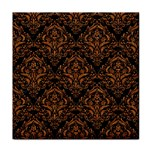 DAMASK1 BLACK MARBLE & RUSTED METAL (R) Tile Coasters Front
