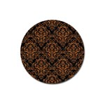 DAMASK1 BLACK MARBLE & RUSTED METAL (R) Magnet 3  (Round) Front