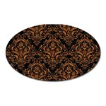 DAMASK1 BLACK MARBLE & RUSTED METAL (R) Oval Magnet Front