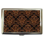 DAMASK1 BLACK MARBLE & RUSTED METAL (R) Cigarette Money Cases Front