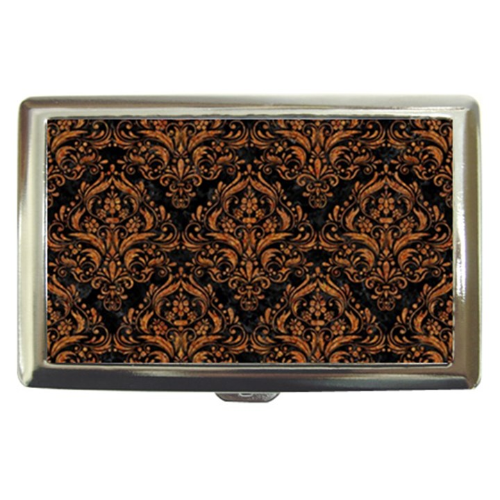 DAMASK1 BLACK MARBLE & RUSTED METAL (R) Cigarette Money Cases