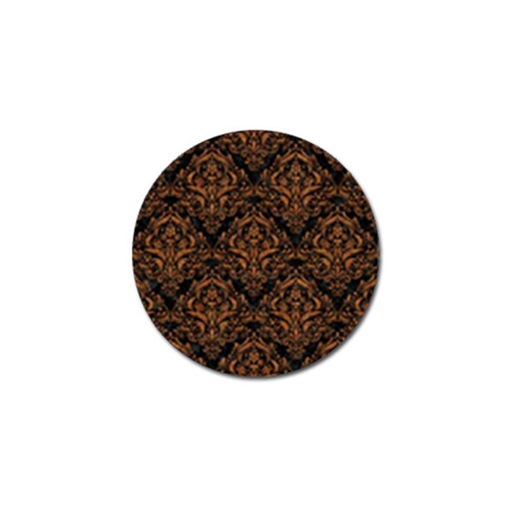 DAMASK1 BLACK MARBLE & RUSTED METAL (R) Golf Ball Marker (4 pack)