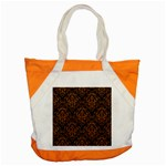 DAMASK1 BLACK MARBLE & RUSTED METAL (R) Accent Tote Bag Front